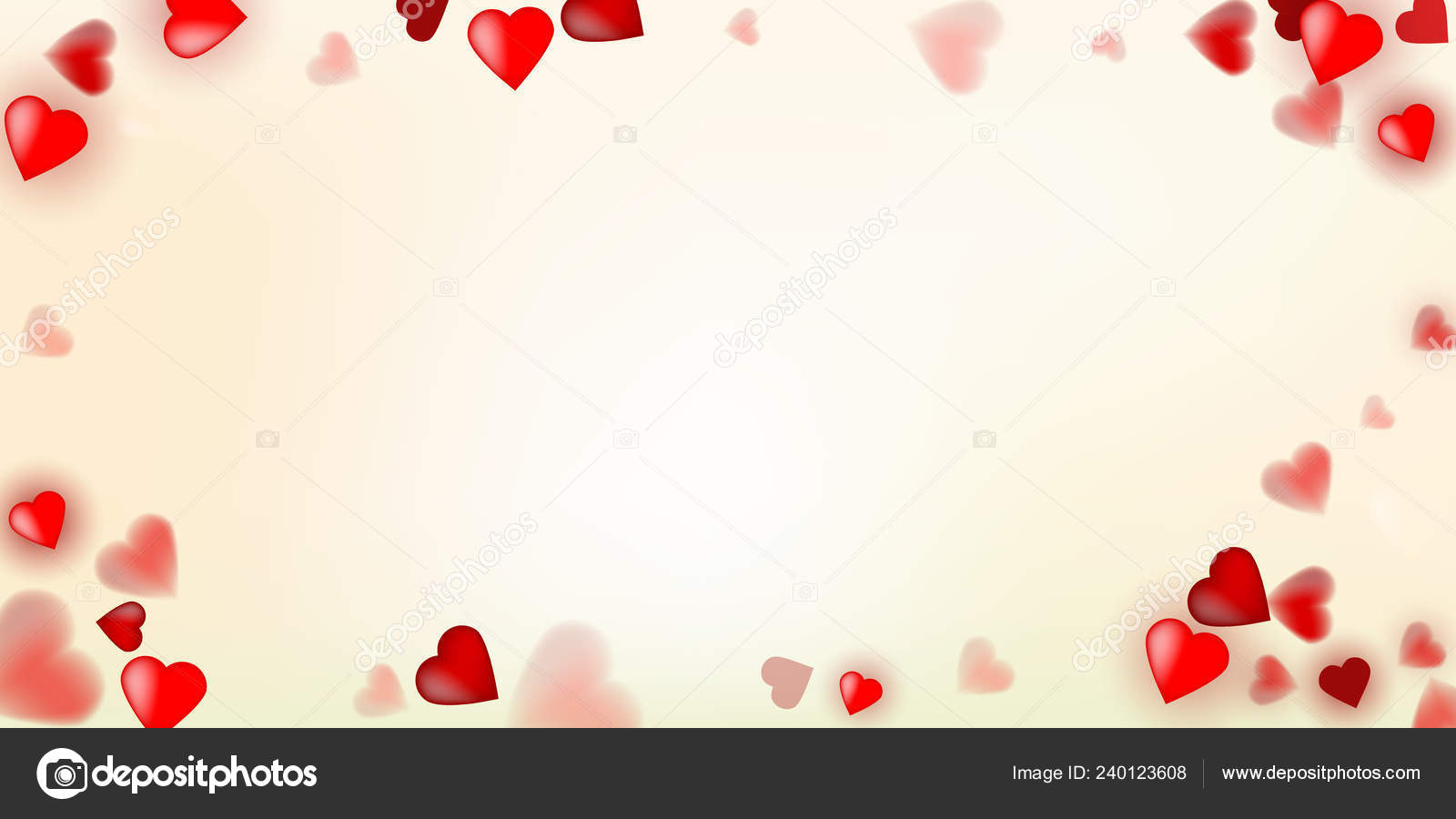 Vector Illustration With Red Love Hearts On Vintage Background Stock Photo C Wonderyusya 240123608