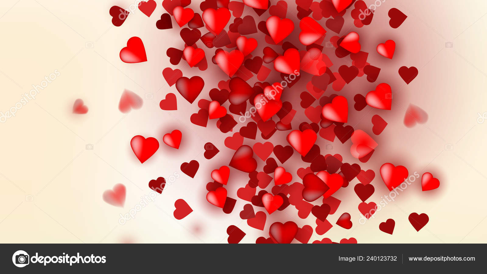 Vector Illustration With Red Love Hearts On Vintage Background Stock Photo C Wonderyusya 240123732