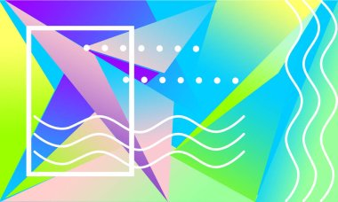 Abstract colored background of abstract colored shapes