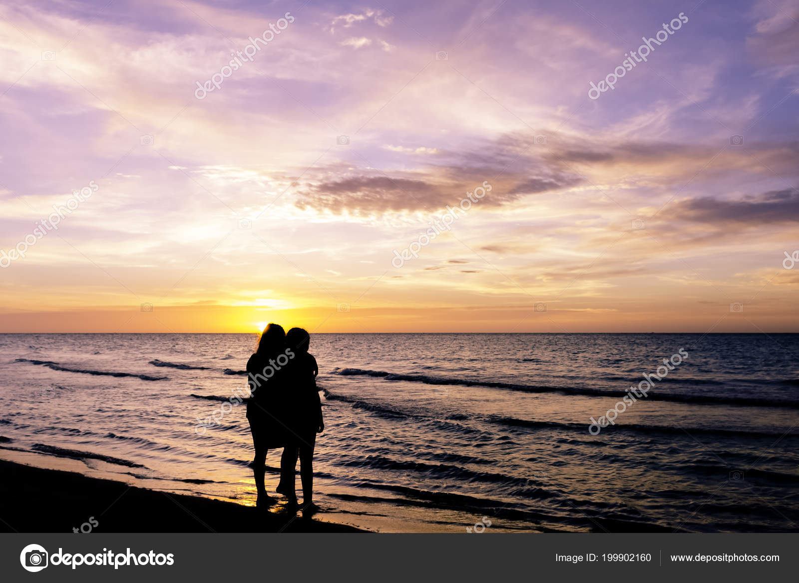 Friendship Sunset Cuban Beach Varadero Cuba Stock Photo