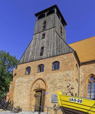 Vintage architecture of Hel, Pomerania, Poland on 27 August 2019