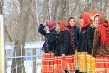 Shrovetide celebrations in the city of Kanash, Chuvashia