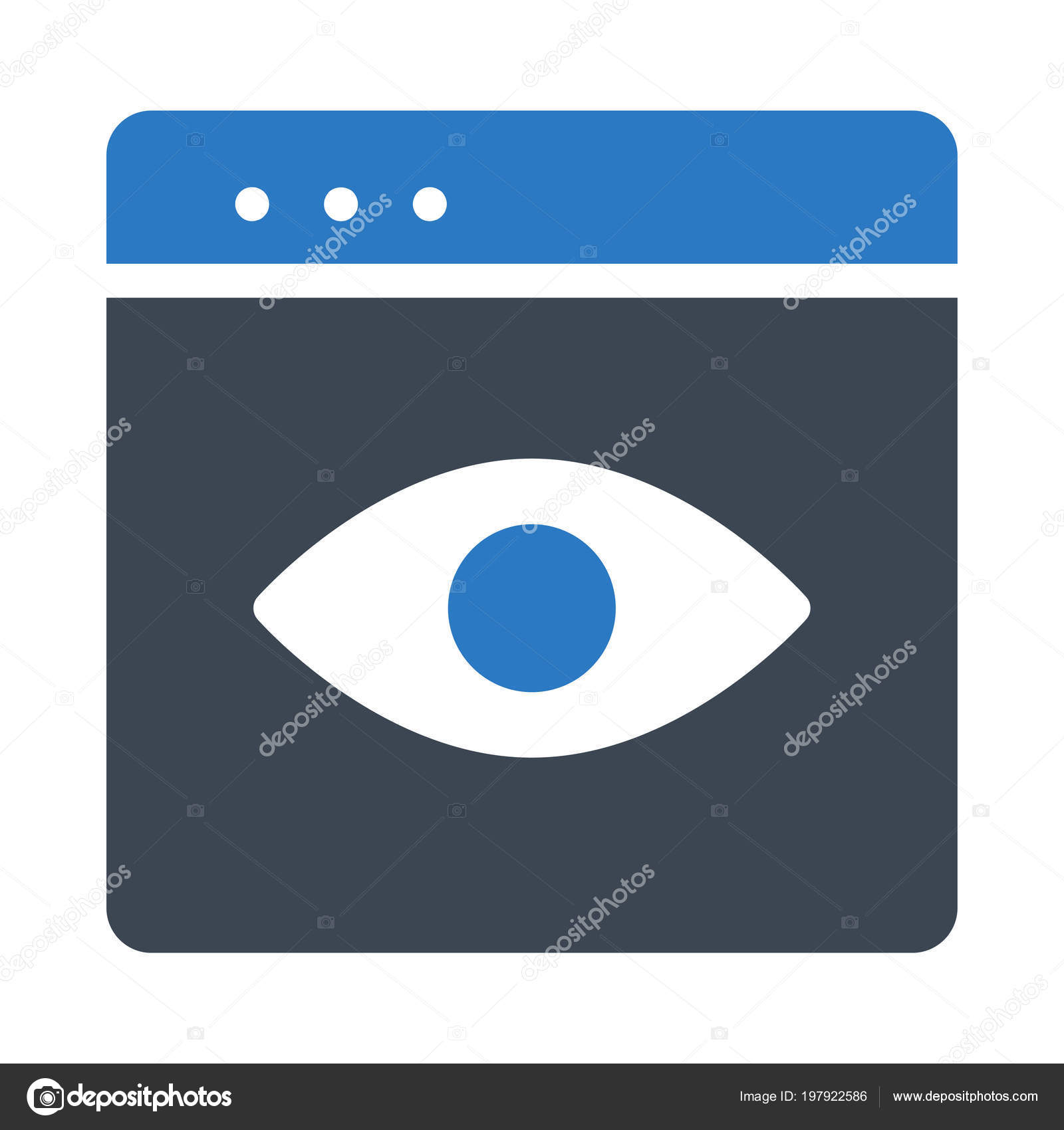 Blue Tablet Device Human Eye Screen Stock Vector Dinosoftlabs Image Diagram Download