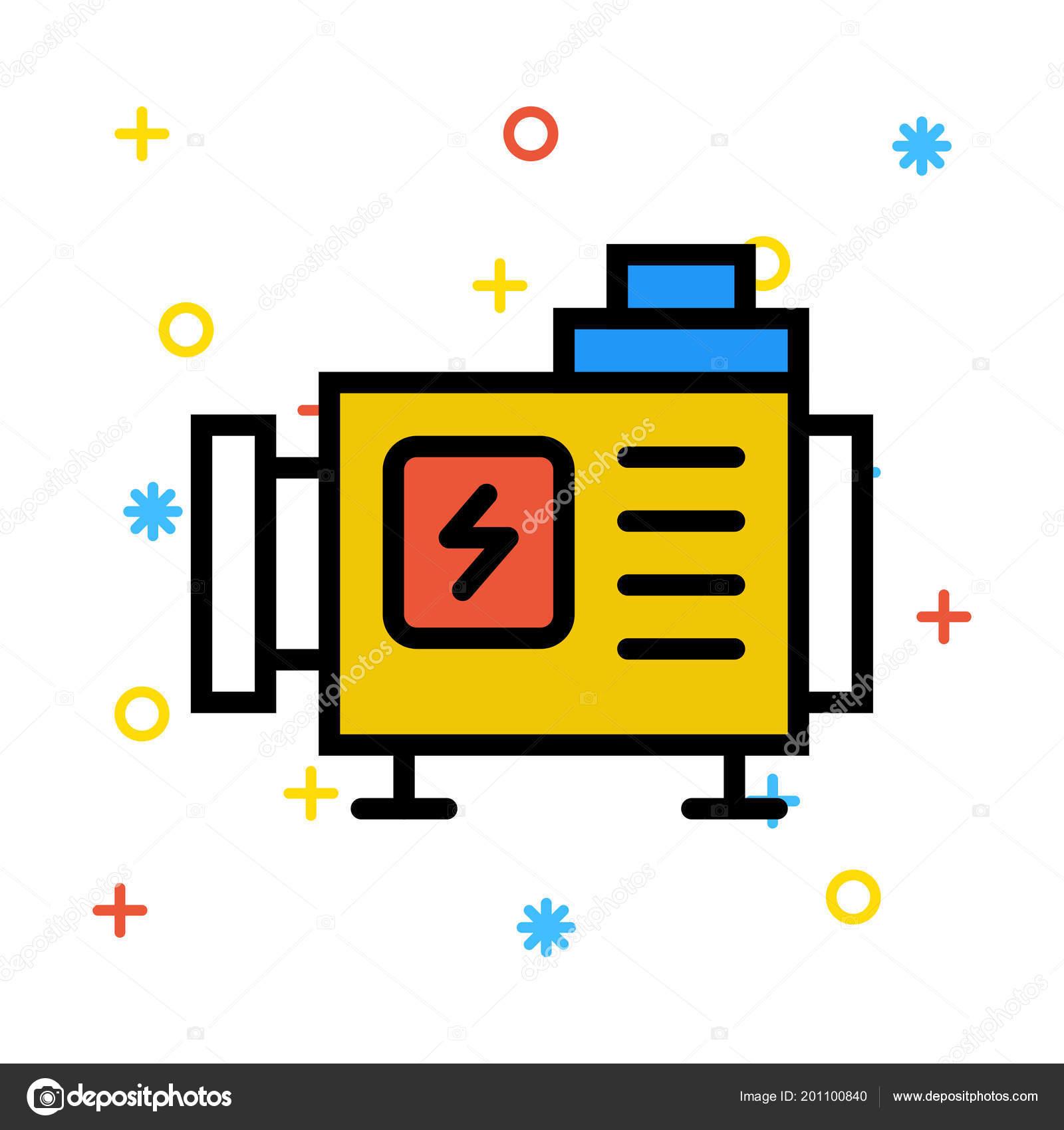 converter flash white background colourful symbols Векторное