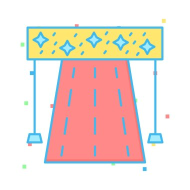 racetrack  path flat icon isolated on white background, vector, illustration