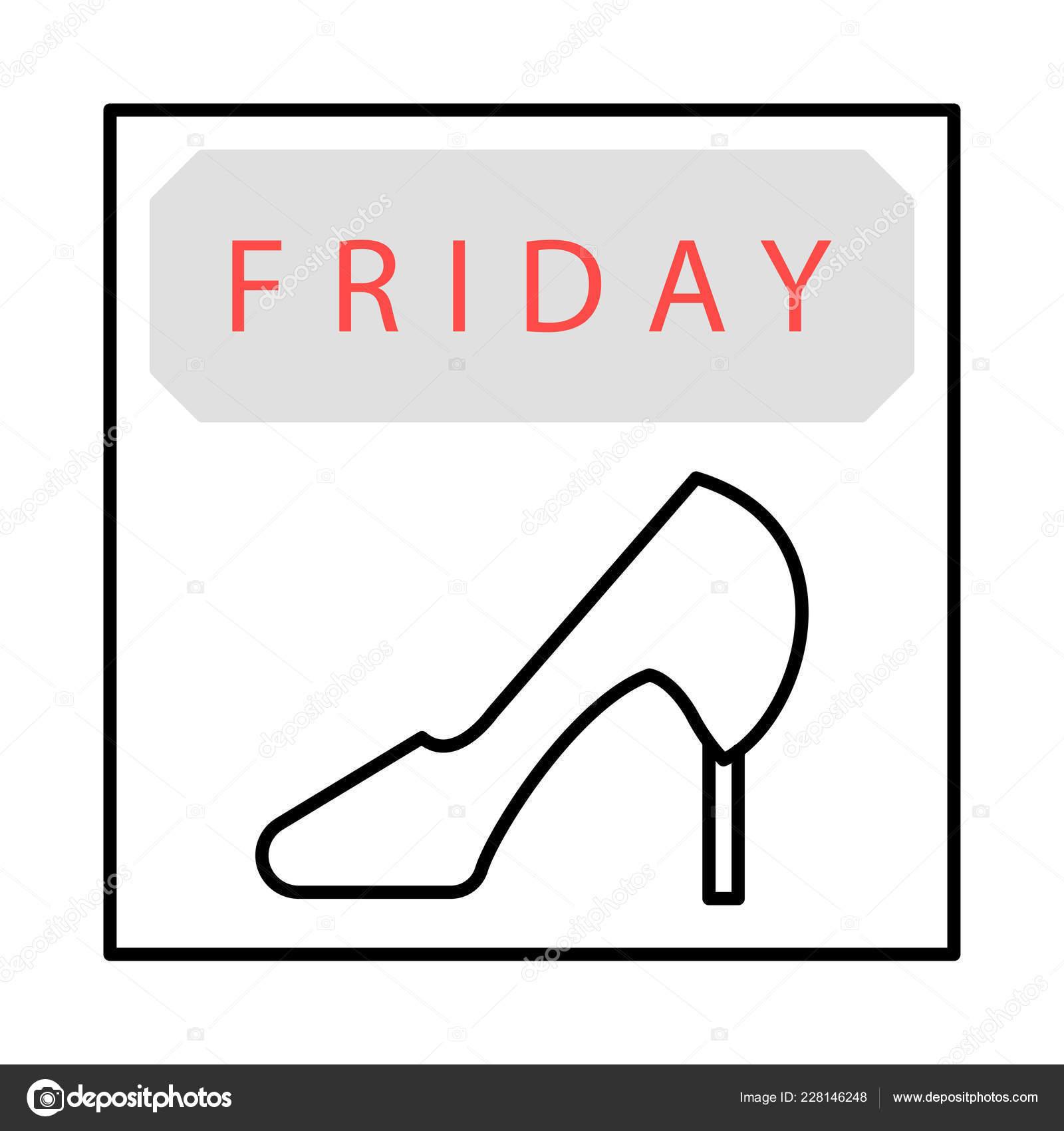 Shoe High Heel Flat Icon Vector