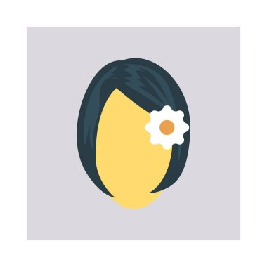 Vector hairstyle color icon