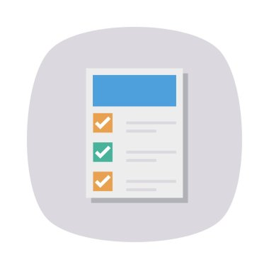 checklist flat style icon, vector illustration
