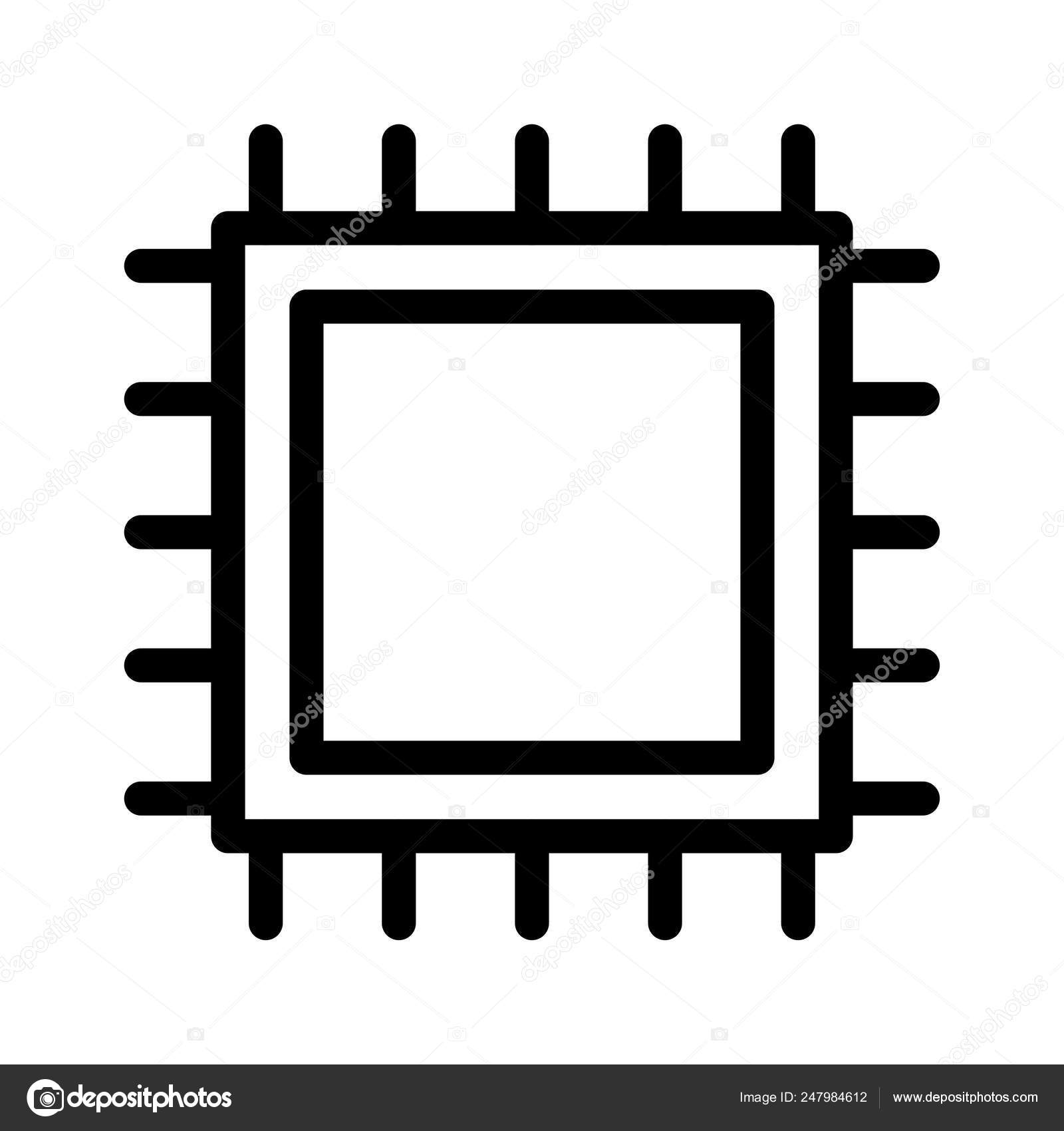 chip processor cpu vector illustration stock vector c dinosoftlabs 247984612 https depositphotos com 247984612 stock illustration chip processor cpu vector illustration html