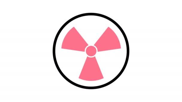 Symbol radiačních ikon otočit, 4k rozlišení, grafika