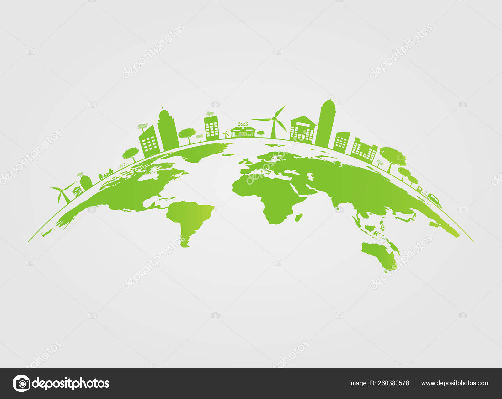 Ecology Green Cities Help The World With Eco Friendly Concept