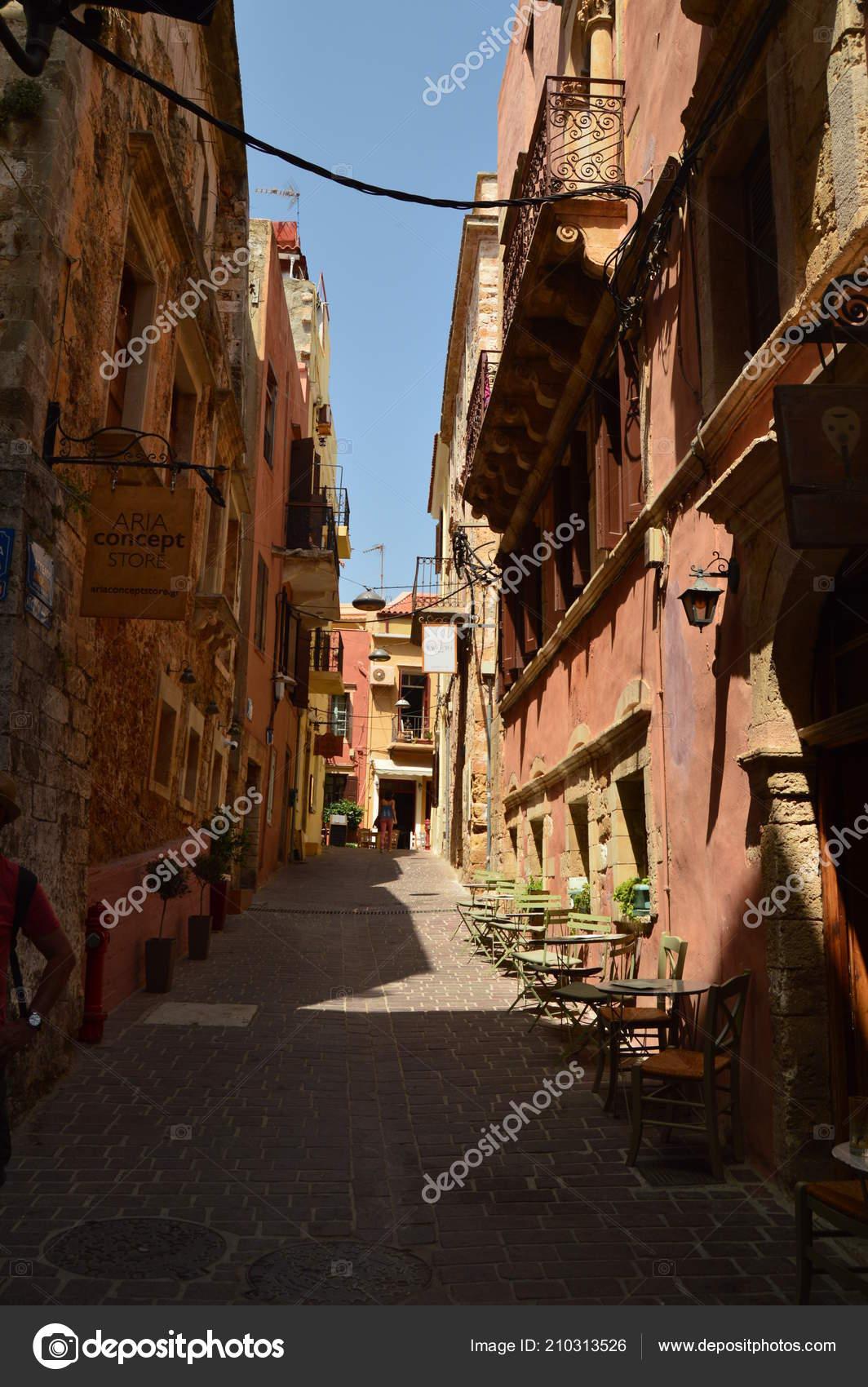 Narrow Streets Venetian Style Neighborhood Chania Souvenir