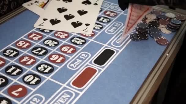 Sázka žetonů na černou barvu na ruletě