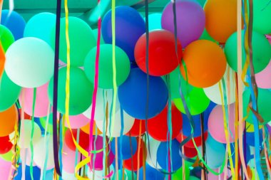 Colorful party balloon with celebration for background