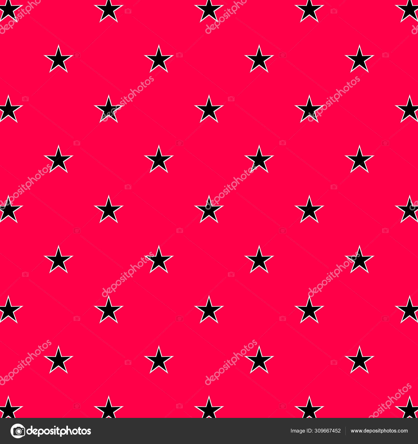 Abstract Seamless Star Pattern Wallpaper Black Pink Background