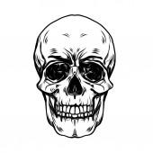 Fotografie Umění ilustrace zlo lebka