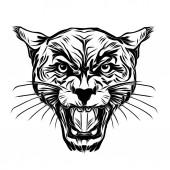 Fotografia tatuaggio tigre volto selvaggio