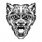 Photo   wild wolf face tatoo