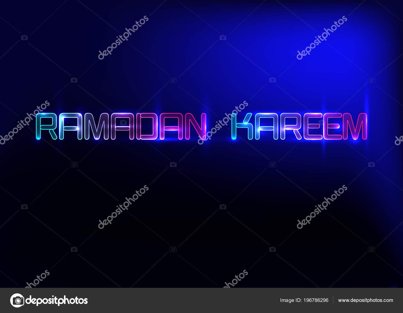 Ramadan kareem greeting cards neon sign design template light banner ramadan kareem greeting cards neon sign design template light banner night neon advert ramadan kareem glorious month of muslim year m4hsunfo