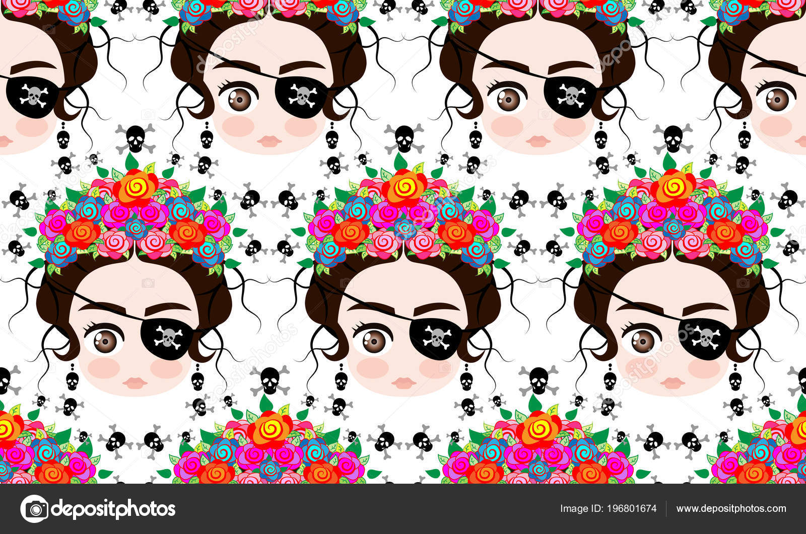 Emoji Femme Mexicaine De Bebe Avec Une Couronne De Fleurs Colorees
