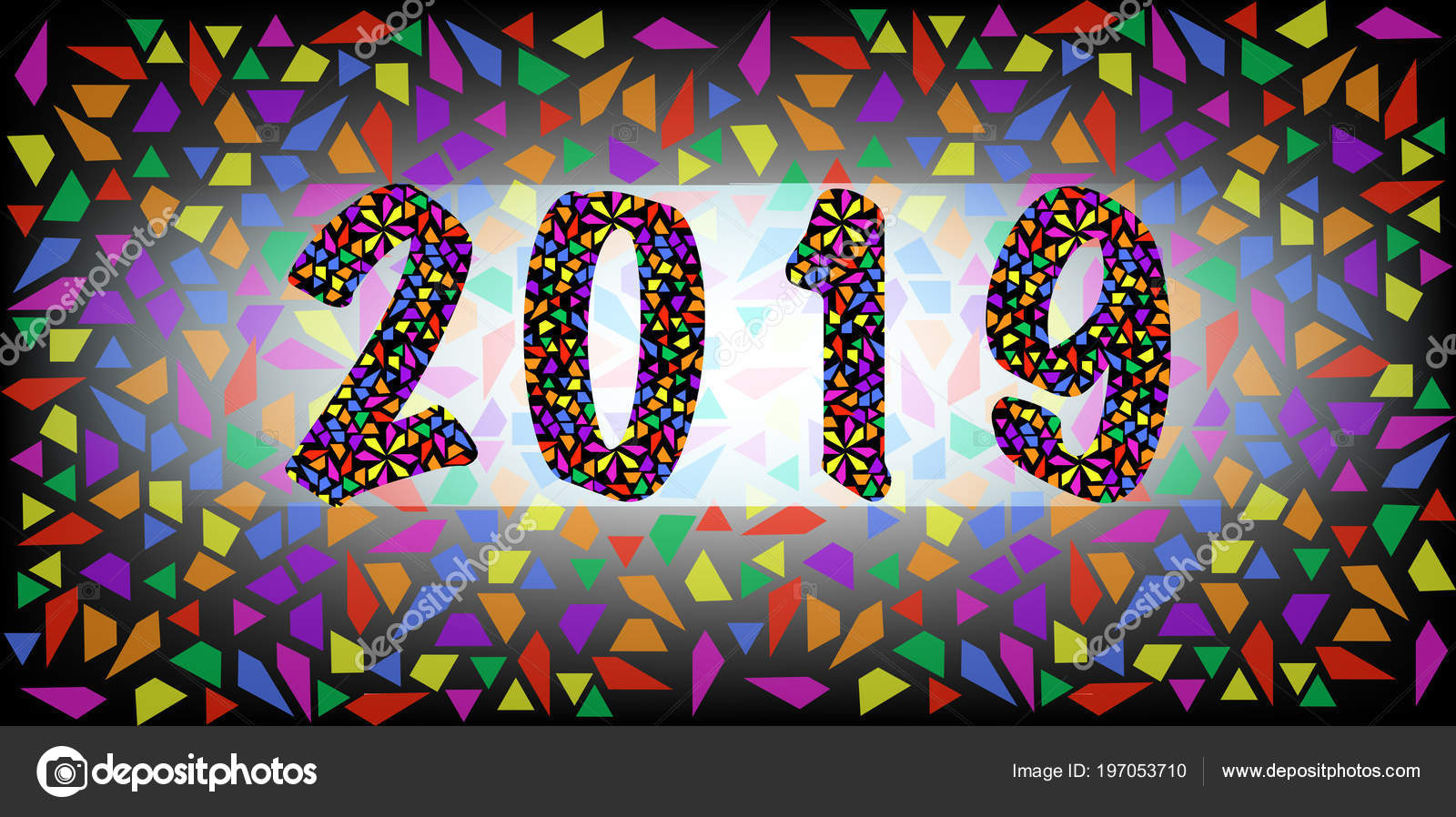 2019 happy new year color mosaic pattern texture abstract modern stock vector robin ph - New years colors 2019 ...