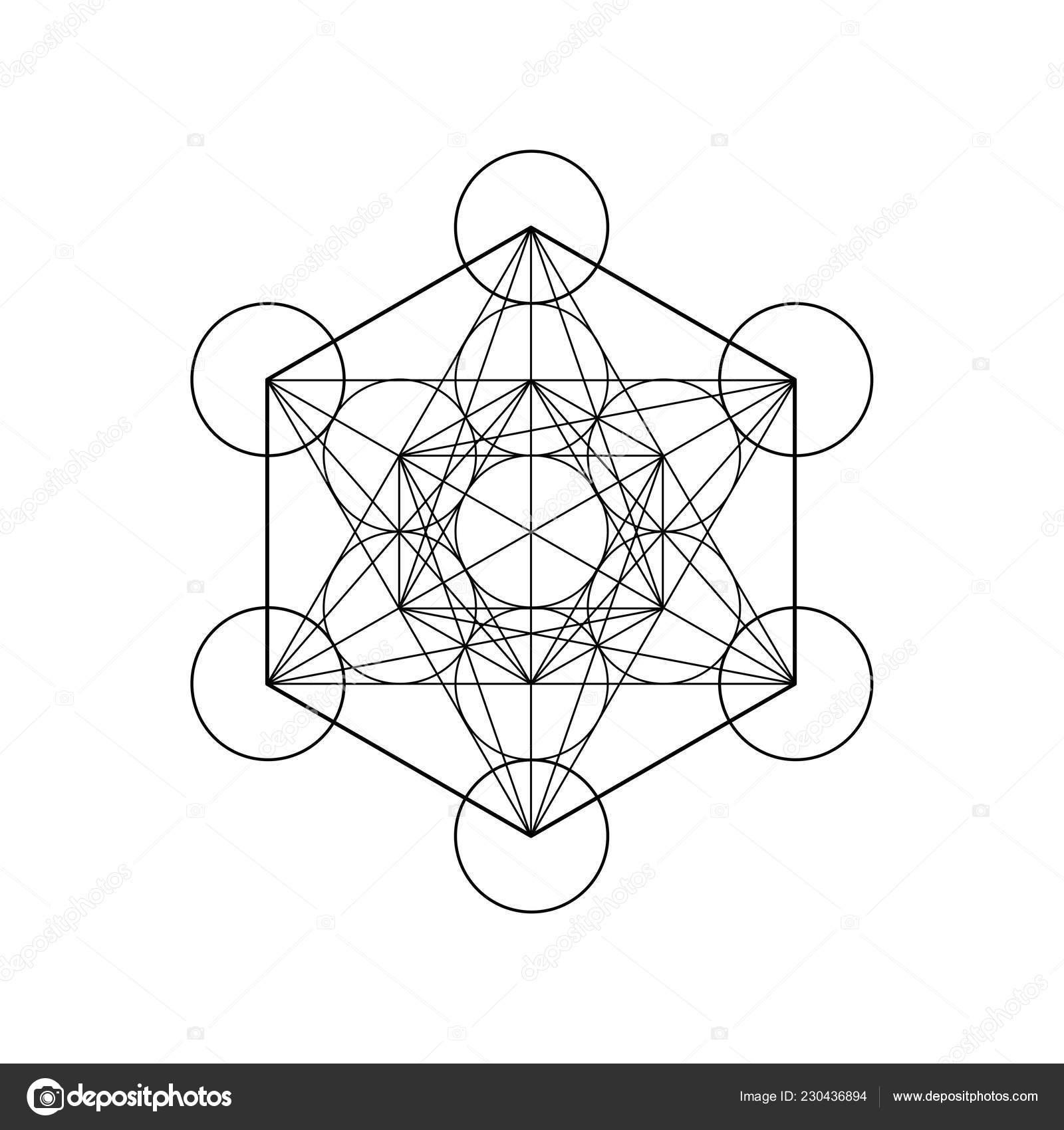 Cubo De Metatrons Flor De La Vida Geometría Sagrada Elemento