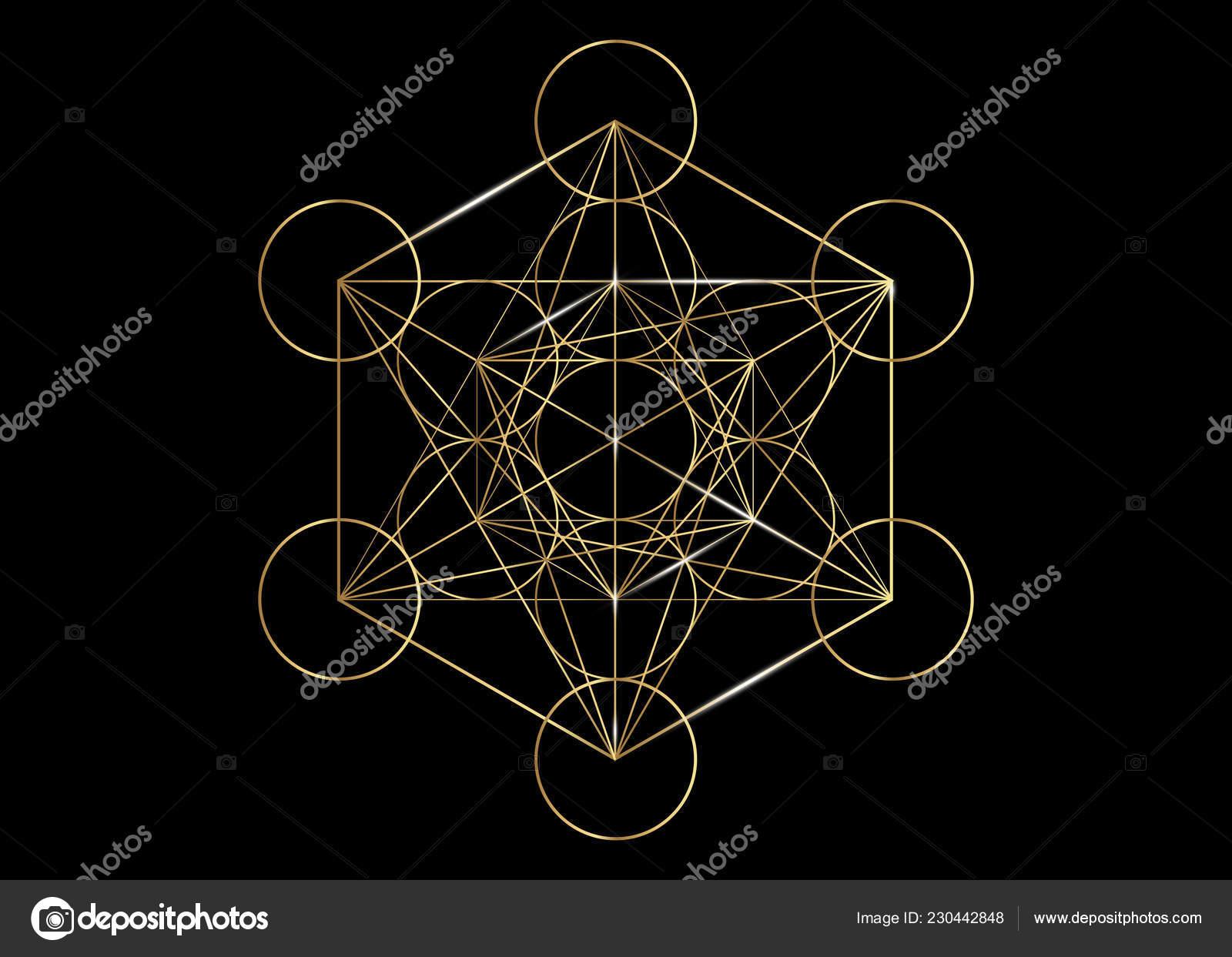 Metatrons Cube Fleur De Vie La Géométrie Sacrée Or