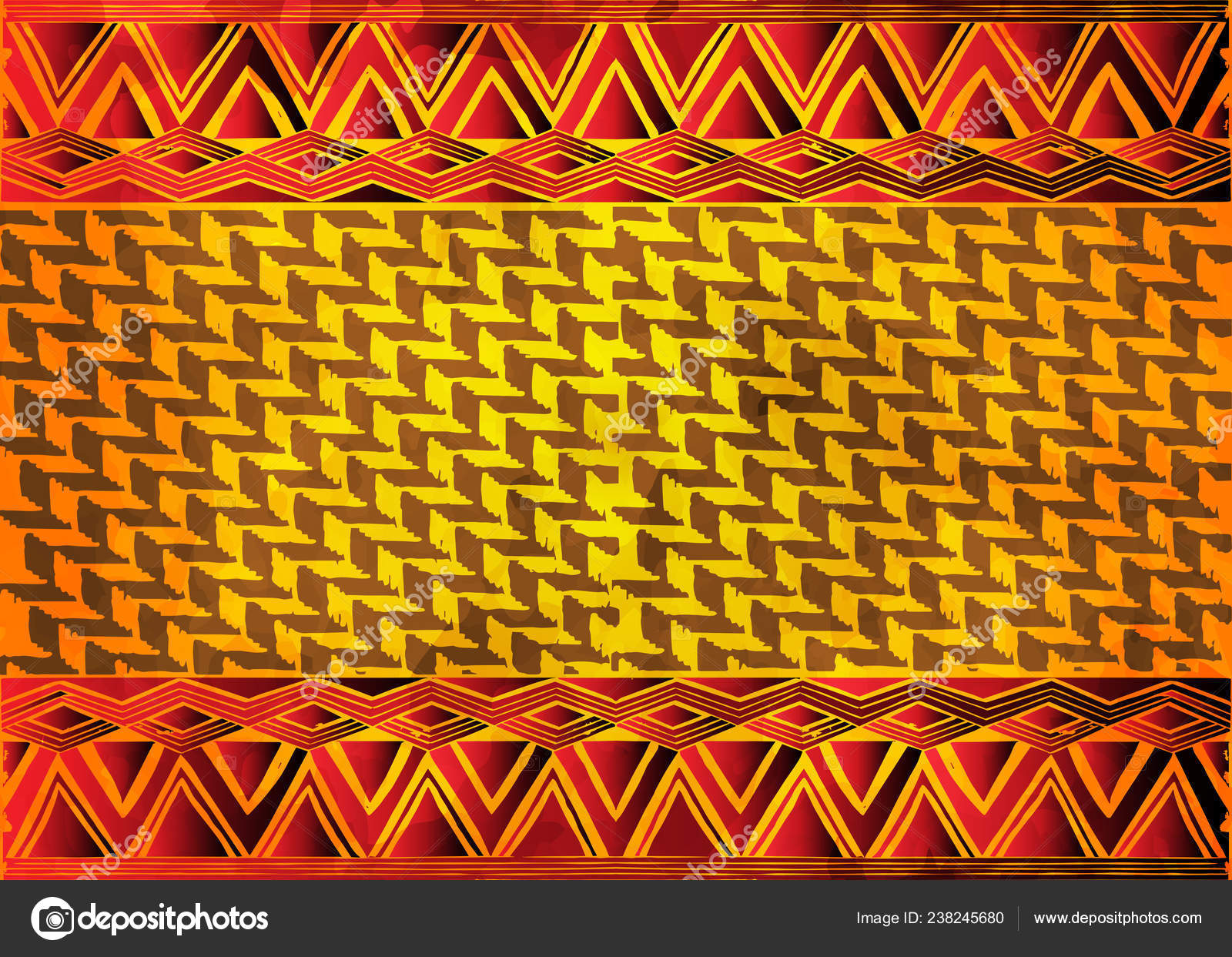 African Print Fabric Ethnic Handmade Ornament Your Design Tribal