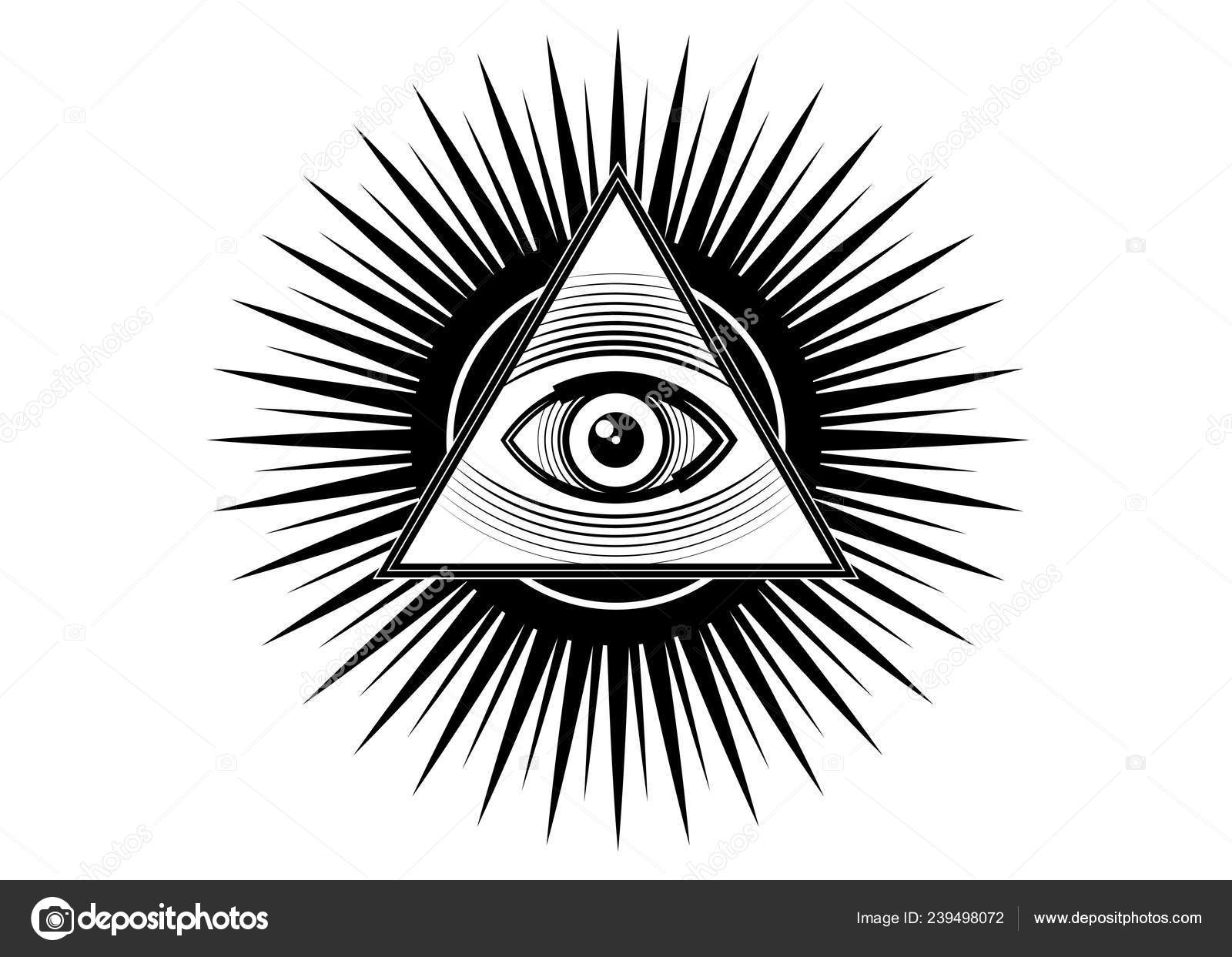 Sacred Masonic symbol  All Seeing eye, the third eye (The
