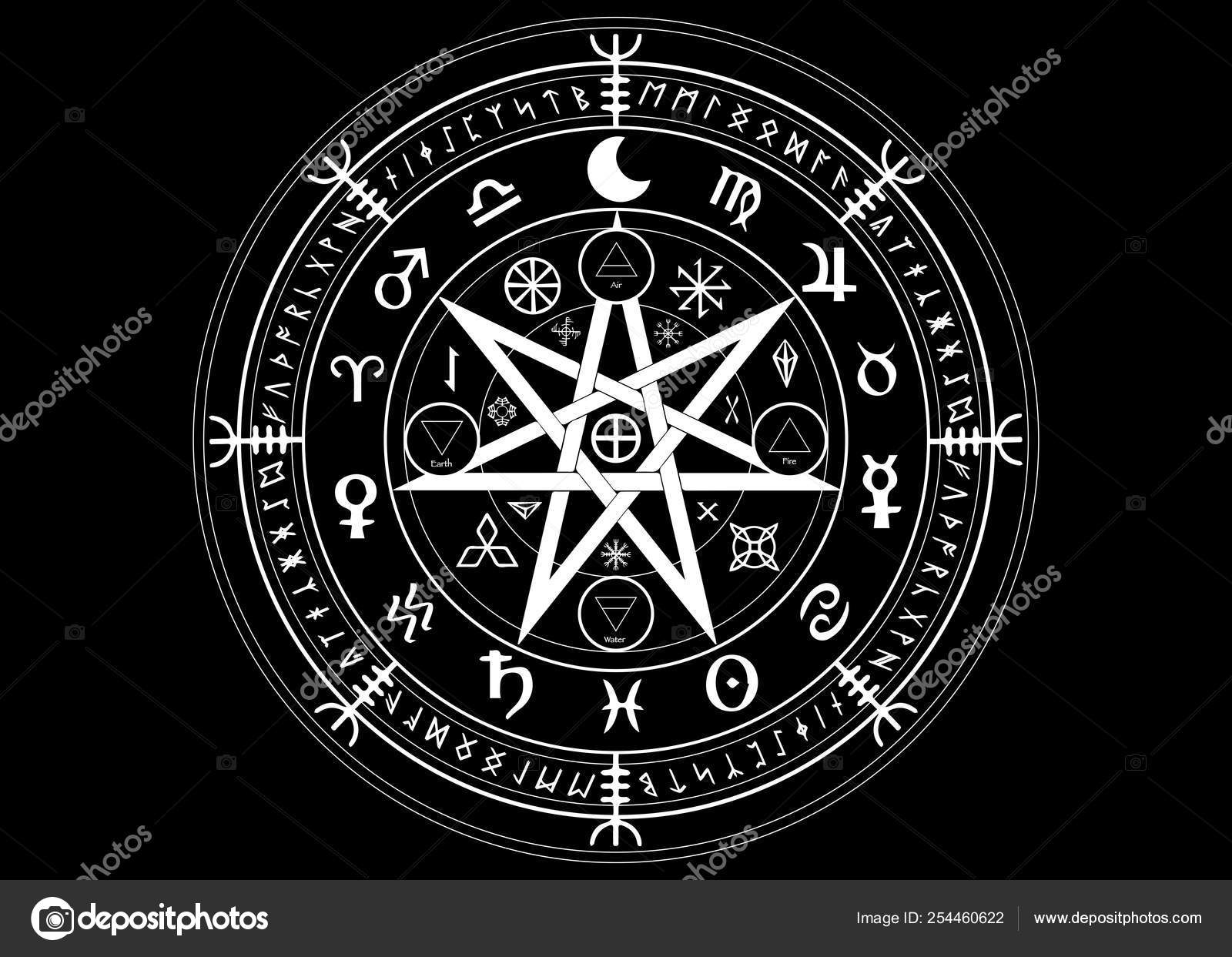 Wicca Hexe Star Collection Star Wicca Rune GER