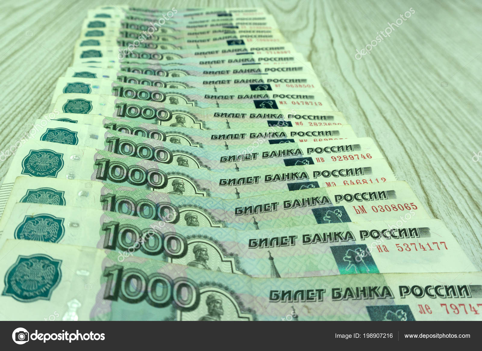 Russian Money Background New 2000 200 Rubles Old Banknotes