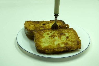 Navajo fry bread with honey cooked copy space