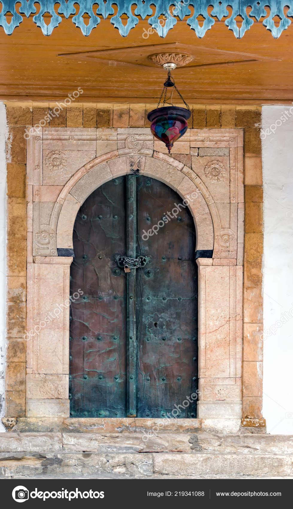 Colore Belle Decoration Facade Dans Maison Sidi Bou Said Tunisie