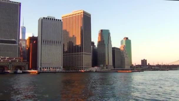 Úžasný výhled na panorama Manhattanu v New Yorku.