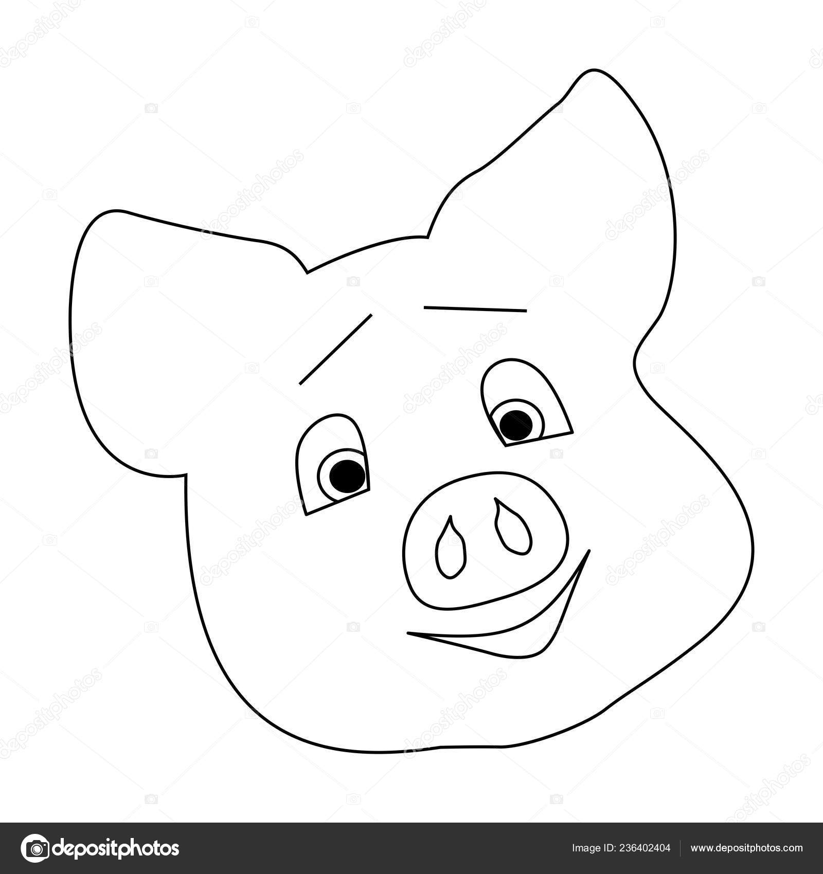 Pig Template   Cute Pig Head Pig Affection Emotion Moved Touched Template