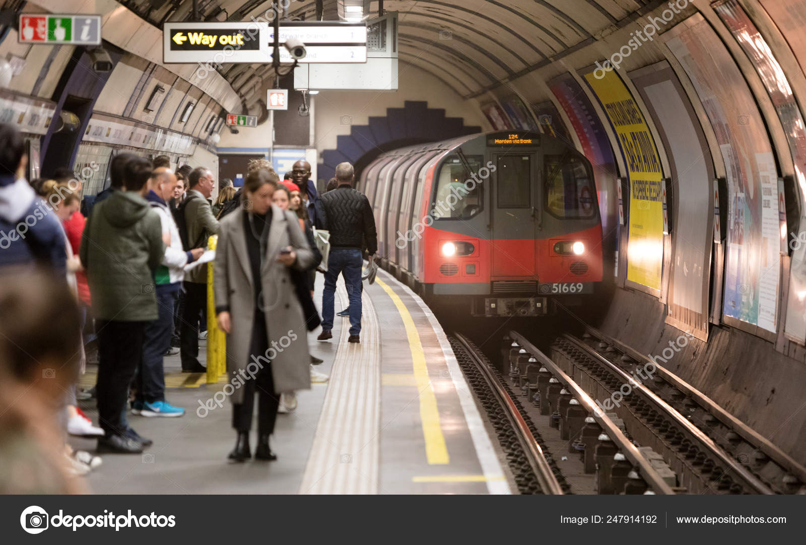 LONDON - MAY 15: Travelers hurry at an underground station