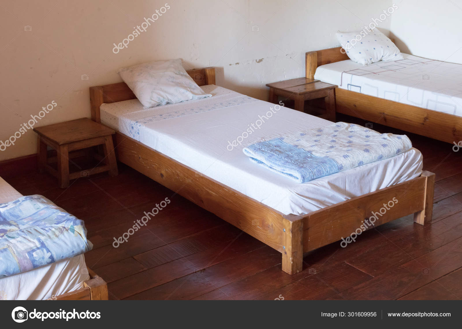 Old Wooden Bed Dormitory Stock Photo C Michaklootwijk 301609956