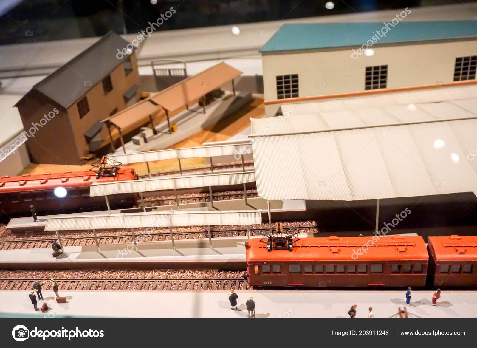 Osaka Japan February 2018 Miniature Model 1800 Ancient Train