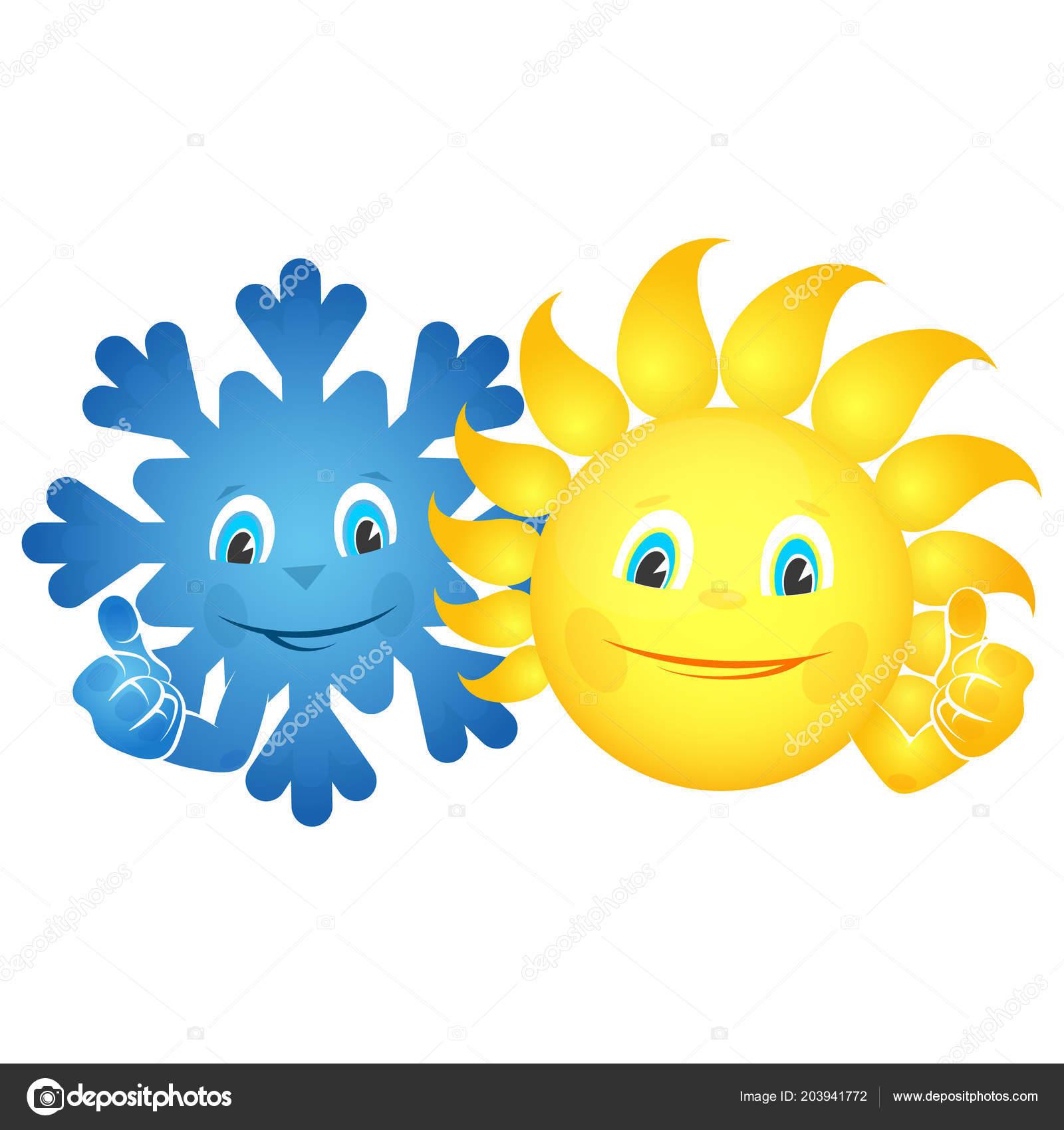Sun Snowflake Smiles Vector — Stock Vector © john1279 #203941772