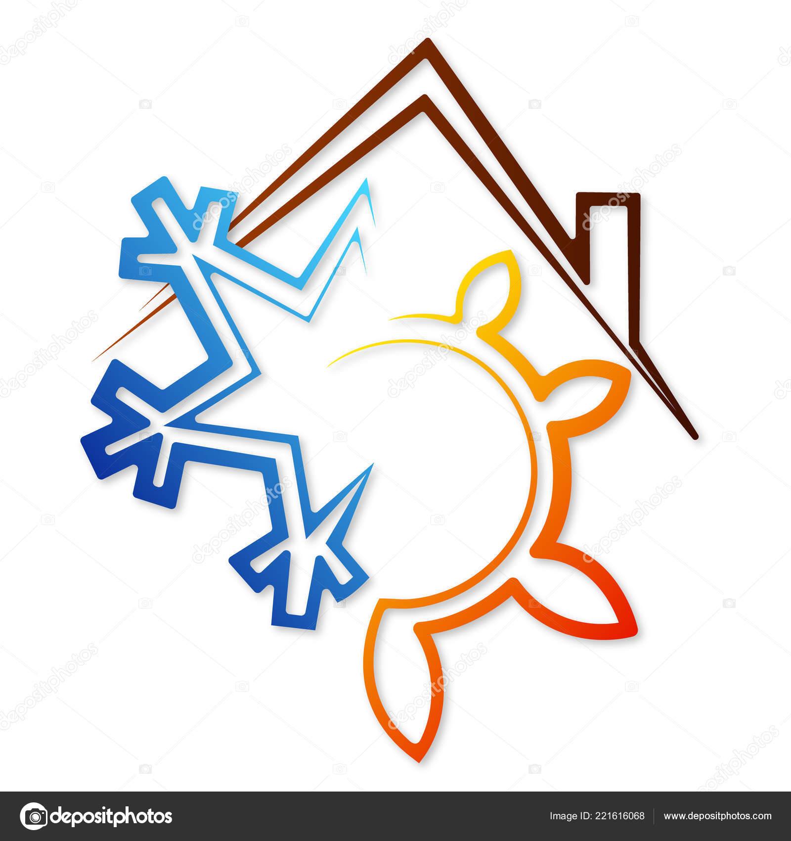 Simbolo Del Fiocco Neve Sole Condizionatore Aria