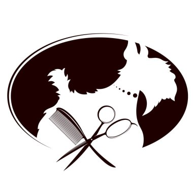 Scissors and comb for grooming dogs and other pets