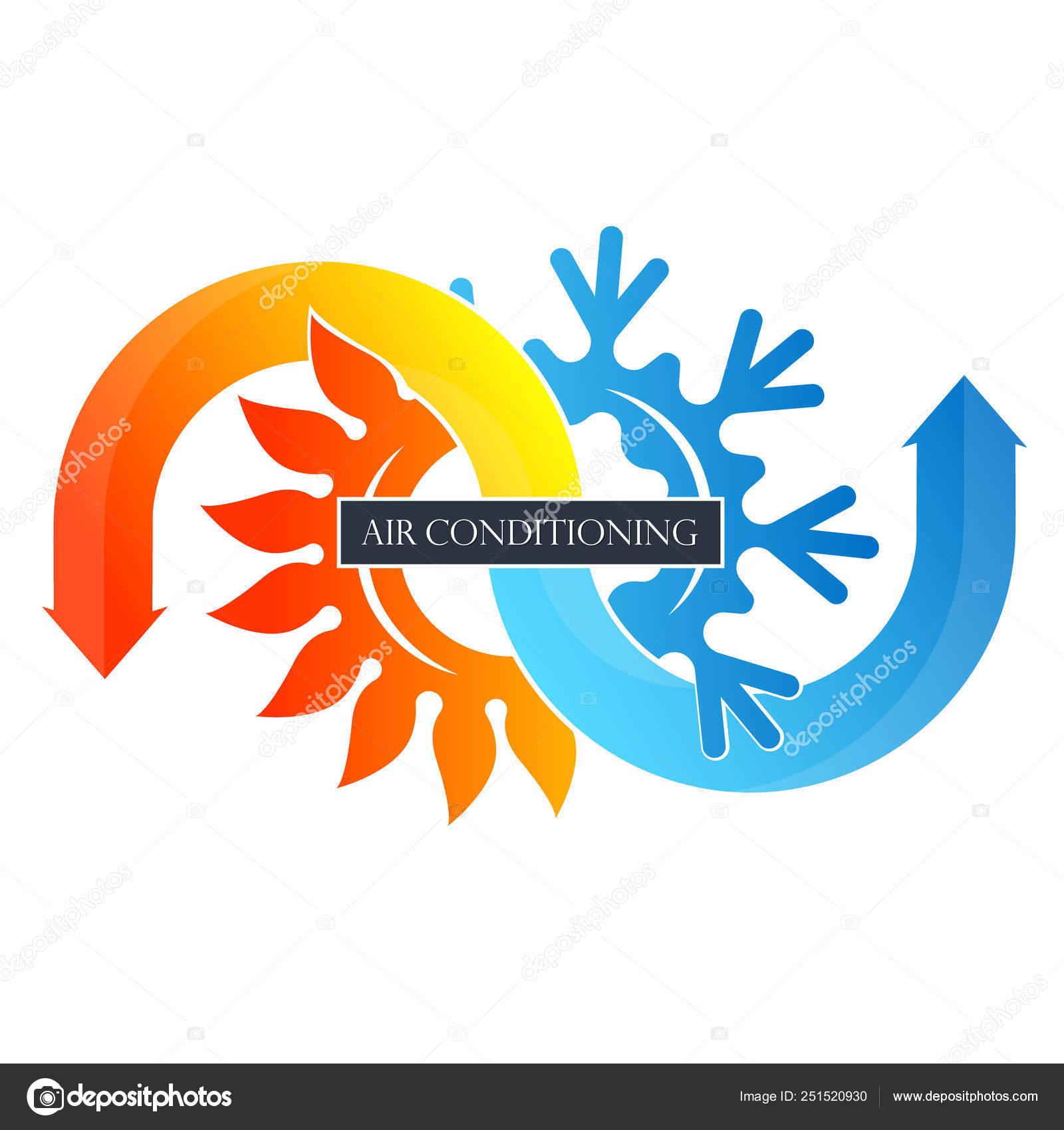 Fiocco Neve Raffreddamento Riscaldamento Frecce Sole Simbolo