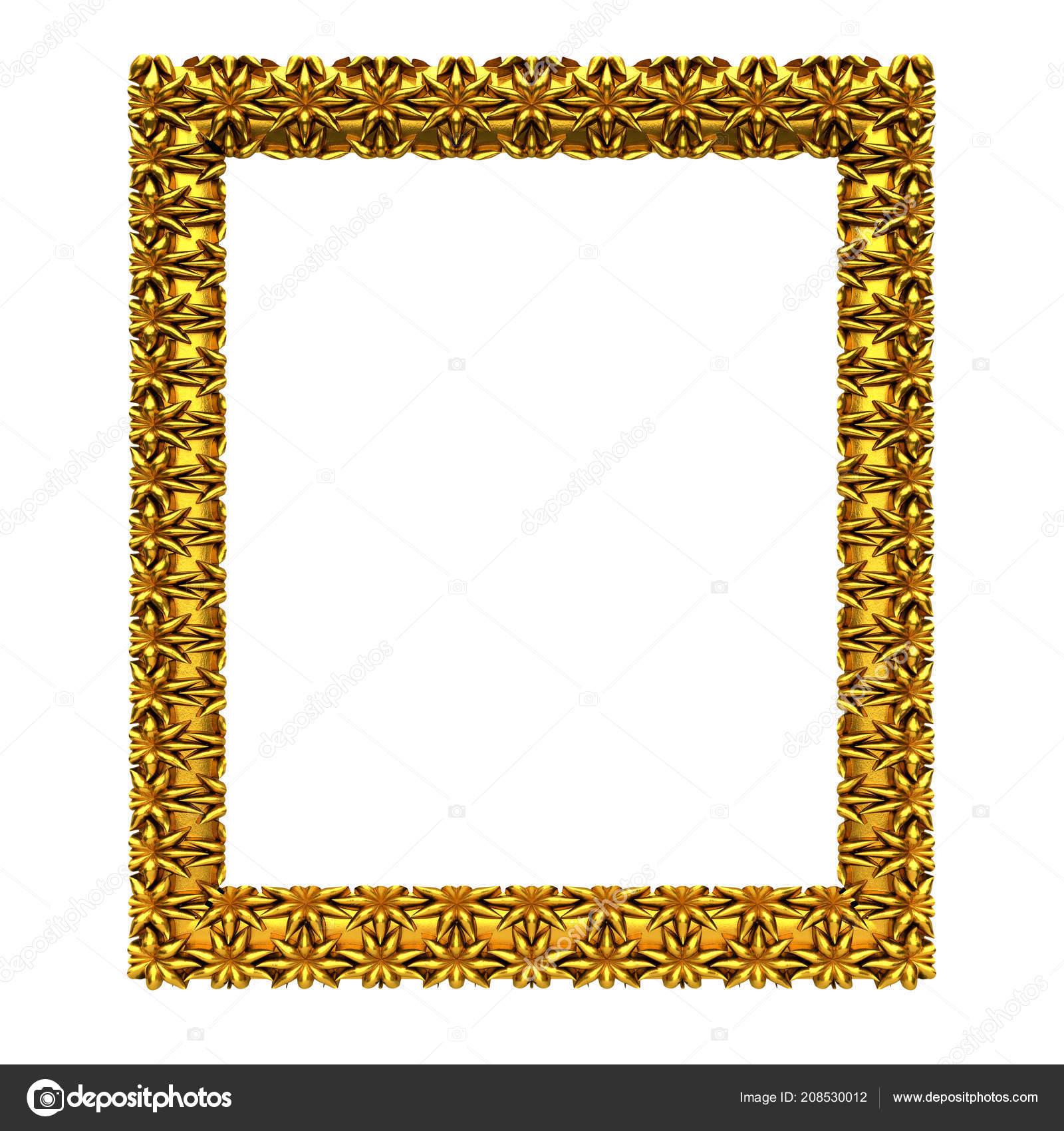 Elegant Modern Golden Frame, 3d Illustration U2014 Foto De DepositPlot