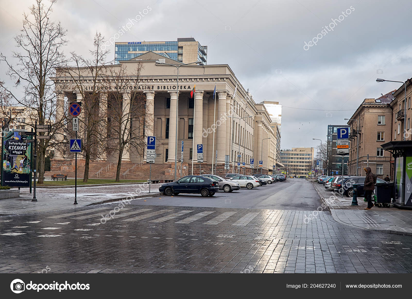 d493b808f90 Λιθουανία Βίλνιους Κτίριο Της Εθνικής Βιβλιοθήκης Στο Βίλνιους Λιθουανίας  Δεκεμβρίου — Φωτογραφία Αρχείου