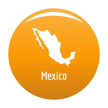 Mexico map in black vector simple