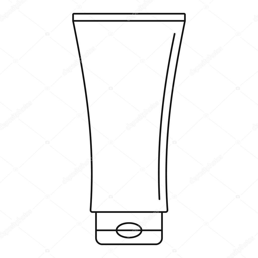 Uv tube cream icon, outline style