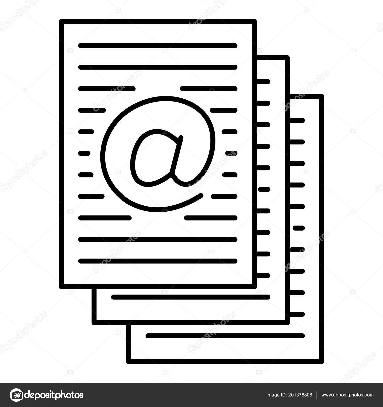 address sheets icon outline style stock vector