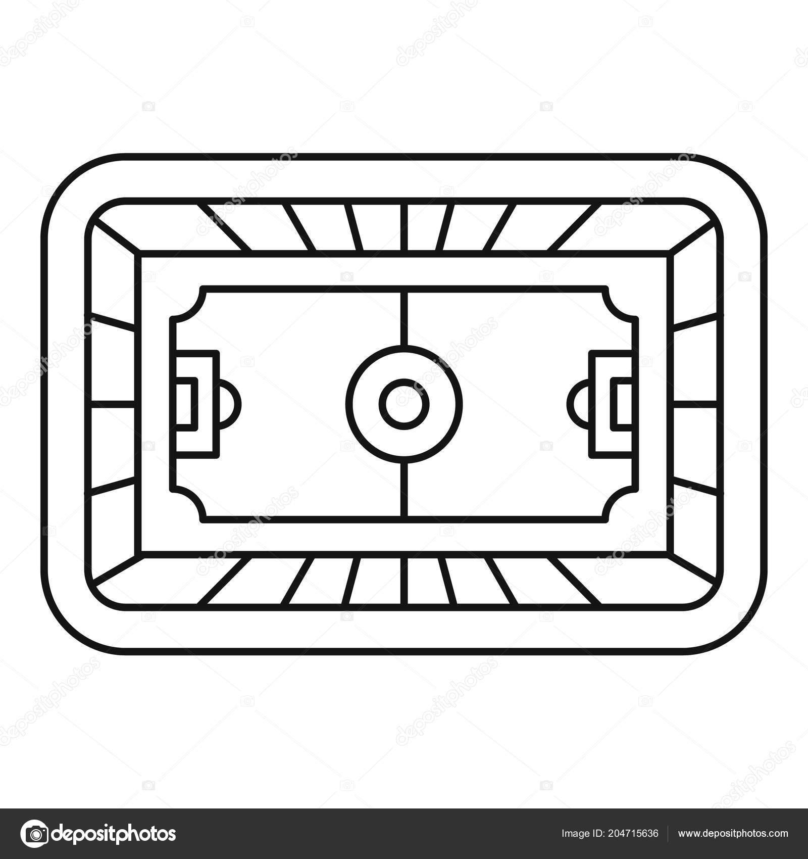 Top Fussball Feld Symbol Umriss Stil Stockvektor