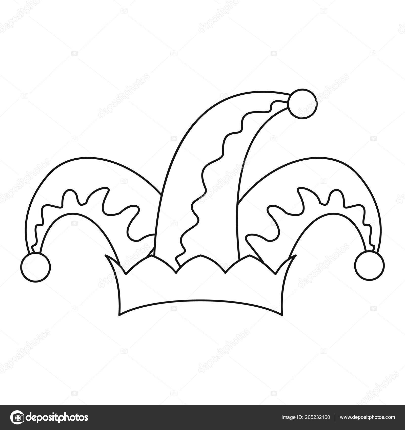 Icono de campana de sombrero de humor. Ilustración de esbozo de icono de  vector de humor sombrero campana para diseño web aislado sobre fondo blanco  ... 2ae4e5ef64b