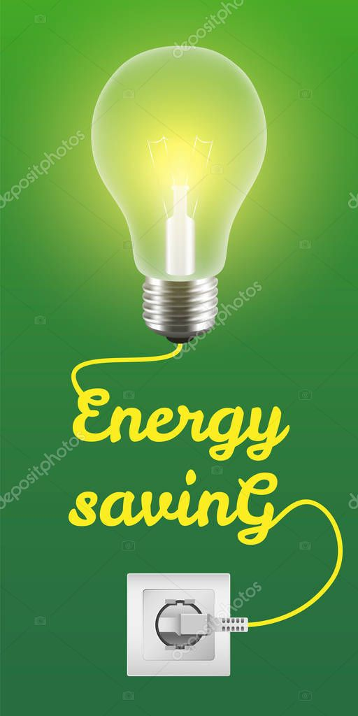 Energy saving concept background, realistic style